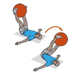 Упражнение с гимнастическим мячом в картинках 6