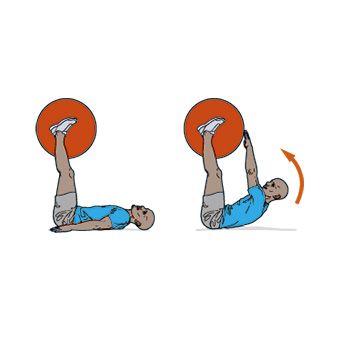 Упражнение с гимнастическим мячом в картинках 5
